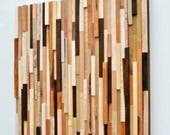 Rustic Wood Wall Art - Wood Sculpture Wall Installation - Reserved for Amy