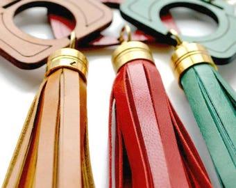 Leather Keyring   Leather tassel keyring   Bag charm  Leather bag charm   Gifts for Photographers   Camera-shaped keyring