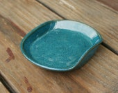 Turquoise Pottery Soap Dish NC Pottery