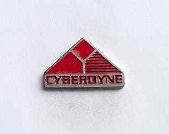 Hand Cast Cyberdyne Lapel Pin
