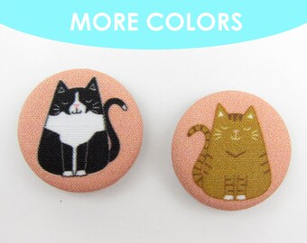 Fat Cat Magnets | Crazy Cat Lady | Cat Lover | Refrigerator Magnets | Office Magnets | Stocking Stuffer | Gifts for Her | Cat Person