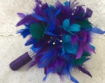 Wedding bouquet, Feather bridal bouquet, Peacock Bouquet, Alternative bouquet, Gatsby Wedding, Wedding accessory, Peacock Wedding, Bouquet
