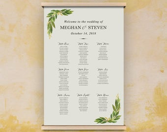 diy seating plan, seating chart, diy poster seating plan, wedding table plan, printable seating chart for wedding reception