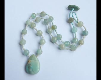 New, Amazonite Necklace Loose Beads , 1 Strand,30cm In The Length, 29x20x7mm,9x9mm,21x10x6mm,36.4g(g0769)