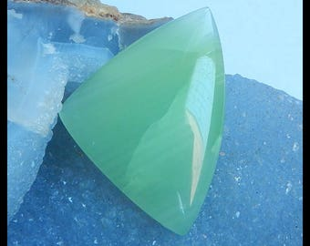 New Jade Cabochon,53x38x7mm,16.7g