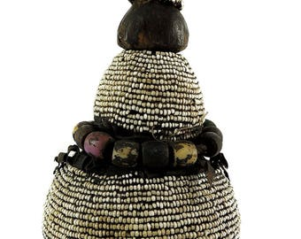 Nyamwezi Beaded Medicine Pot Tanzania African Art 112944