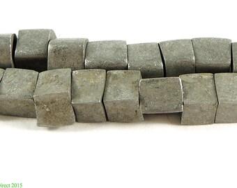 Aluminum Cube Trade Beads Ethiopian Africa 96627