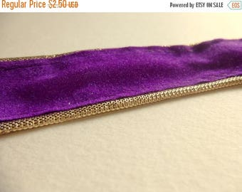 ilovesales Velvet Ribbon Trim in Purple- 1 Yard