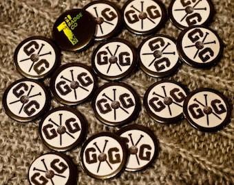"Gnitting Gnomes 1"" Button Badge Pin Knitting"