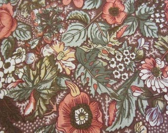 Floral Print, Flowers on a brown background
