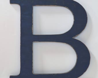 Letter B - 24 Inch Wood Letter - Large Wooden Letters - Nursery Wall Letters