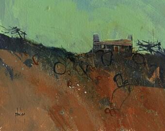 Original moorland cottage painting by Paul Bailey: Bwthyn graig goch