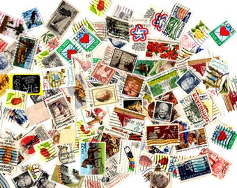 SALE - 200 Vintage United States Postage Stamps