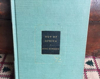 Out of Africa Isak Dinesen, Modern Library 1952 Nice Vintage Decor Book