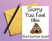 Get well card - Funny get well soon card - Funny get well card - PRINTABLE CARD -  Get well soon card - Feel better soon card