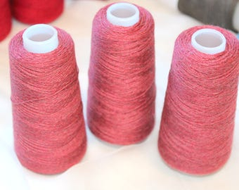 """Fine wool lace weight yarn or """"Smoothy"""" on cone"""