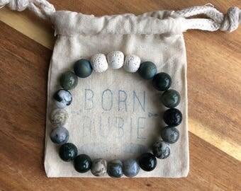 Essential Oil Diffuser Bracelet // Lava Stone // Jasper Gemstone Bracelet // Aromatherapy Bracelet