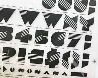 SINALOA is a Vintage Letraset Instant Lettering Rub off Alphabet Sheet