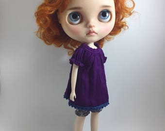 StableHouse Purple top and balloon short pants for Neo Blythe Doll