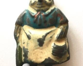 """Vintage """"Cococub"""" Granny Owl lead toy."""