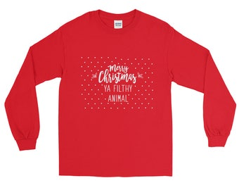 Merry Christmas Ya Filthy Animal - Home Alone inspired Long Sleeve T-Shirt