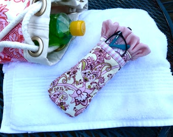 Pink Paisley and Velvet dual sunglass case