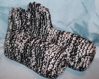 Crochet slipper socks