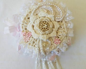 Handmade Mini Lace Book