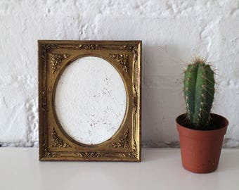 Vintage Picture Frame - Photo Frame - Wooden Photo Frame - Matte Gold Finish - Italy