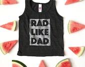 rad like dad kids TANK bundle | scout & indiana ™ || custom listing for A. Beaton