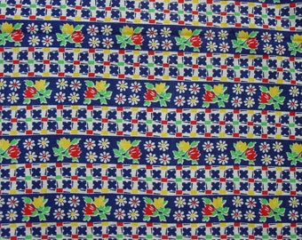 "Vintage Cotton Fabric Charming Print in Primary Colors 36"" Wide 1 Yard 10"""