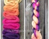 Hand Dyed Yarn, Gradient Yarn, Fingering Weight Yarn, Sw Merino/Silk