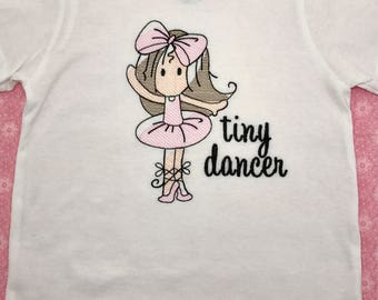 Girl ballerina shirt / toddler ballerina shirt / infant ballerina shirt / tiny dancer / onesie