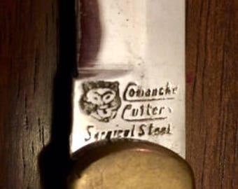 Comanche Culture Surgical Steel Pocket Knife