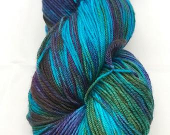 Jimmy Sock, Hand Dyed Yarn. Sock Yarn, HauteKnitYarn, Superwash Merino, Nylon, Fingering weight,  Simple Sock, The Impossible