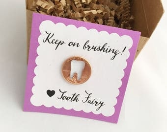 Tooth Fairy coin, tooth fairy gift, receipt from Fairy