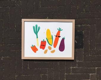 SALE!!! Poster ' Veggies'
