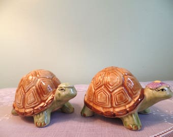 Vintage Otagiri Turtle Salt & Pepper Shaker Set - Otagiri - Otagiri Turtle Shakers - Turtle Shakers - Otagiri Mary Ann Baker - Otagiri Japan