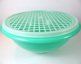 Vintage Tupperware Colander with Grid Top - Vintage Tupperware - Tupperware - Tupperware Colander - Colander - Colander Strainer - Strainer