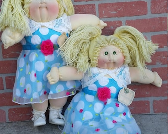 """cabbage patch Twin dolls, 23"""", soft sculpture, signet, little people edition, Rare"""