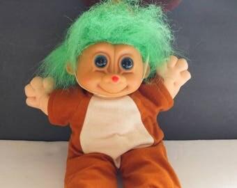 Russ Reindeer Troll Christmas Troll Soft Body Troll Doll