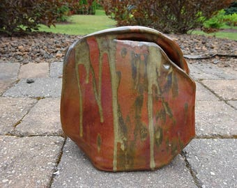 Vintage 1980's Ceramic Red Art Studio Pottery from the Brooks Collection