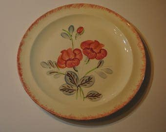 "Old Pattern BLUE RIDGE Potteries Southern Pottery 8 1/2"" PLATE Pink Floral Unknown Design"