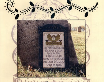 Carriage House Samplings: Carolina Handley - a Tombstone Angel Cross Stitch Pattern