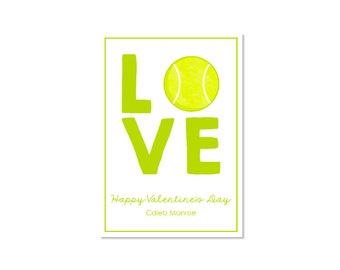 Tennis Valentine Classroom Card