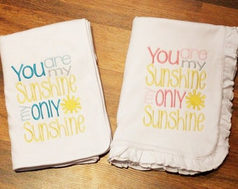 You are My Sunshine Stroller Blanket