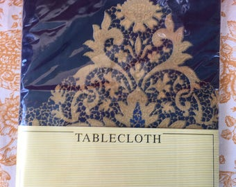 "Tablecloth 100% cotton Wilton Court 60 x 84"" oval never used"