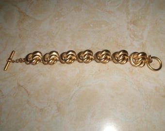 vintage bracelet brushed goldtone rope chain
