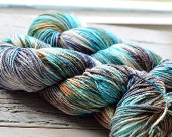 Hand Dyed Superwash Merino Yarn - DK weight - Dirty Cowboy