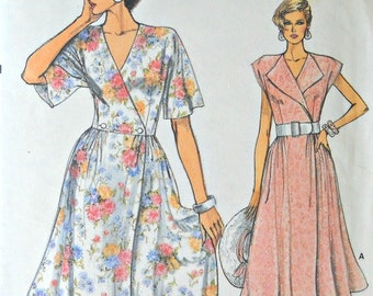 Very Easy Very Vogue 9282, Misses Dress pattern, sizes 6, 8, 10, Factory Folded Uncut, Vintage 1985